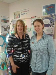 Care Ambassadors Sandie Oxborrow and Kerry Bowers.